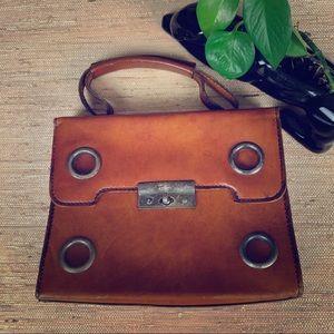 Vintage Italian Leather L.S. Ayers Frame Handbag